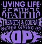 Hodgkins Lymphoma Living Life With Faith Shirts