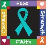 Gynecologic Cancer Courage Hope Shirts