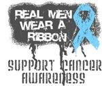 Prostate Cancer Real Men Wear a Ribbon Shirts