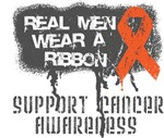 Leukemia Real Men Wear a Ribbon Shirts
