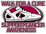 Throat Cancer Walk For A Cure Shirts
