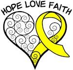 Testicular Cancer Hope Heart Shirts