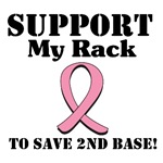 Support My Rack Breast Cancer T-Shirts & Gifts