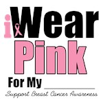 I Wear Pink Ribbon Breast Cancer T-Shirts & Gifts