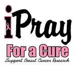 I Pray For a Cure Breast Cancer T-Shirts & Gifts