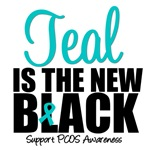 Teal is The New Black PCOS Awareness T-Shirts