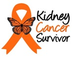 Kidney Cancer Butterfly Survivor Ribbon Gifts
