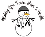 Christmas Snowman Melanoma Cards & Gifts
