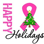 Pink Ribbon Breast Cancer  Christmas Cards & Gifts