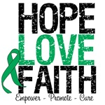 Hope Love Faith Liver Cancer  Shirts