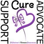 Alzheimer's Disease Support Advocate Cure Tees