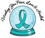 Christmas Snowglobe Ovarian Cancer Gifts