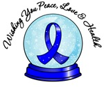 Colon Cancer Christmas Ribbon Shirts