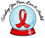 Blood Cancer Christmas Snowglobe Shirts