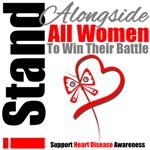 I Stand Alongside All Women Heart Disease Shirts