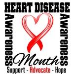 Heart Ribbon - Heart Disease Month Shirts