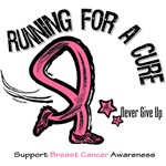 Breast Cancer Running For A Cure Shirts