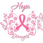 Breast Cancer Butterfly Hope Shirts and Gifts