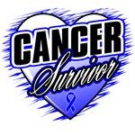 Colon Cancer Survivor Grunge Heart Shirts