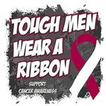 Throat Cancer Tough Men Wear A Ribbon Shirts