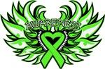 Lymphoma Heart Awareness Wings Shirts