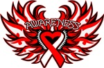 Squamous Cell Carcinoma Heart Awareness Wings Tees