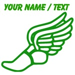 Custom Green Winged Running Shoe