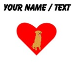 Custom Golden Retriever Heart