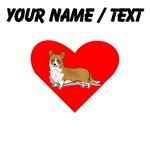 Custom Pembroke Welsh Corgi Heart