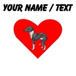 Custom Italian Greyhound Heart