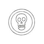 Geometric Skull in Circle