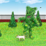 Jack Russell and Bear Topiary