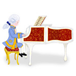 Young Mozart at the Piano