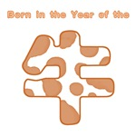 Born in the Year of the Ox Chinese (Brown & White)