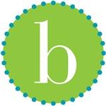b monogram, lime