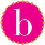b monogram, pink