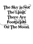 The sky is not the limit ... (blk) Aparrel