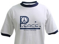 Peace to All Mankind T-shirts and Gifts