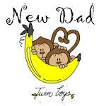 Monkeys Dad of Twin Boys Tshirts and Gifts