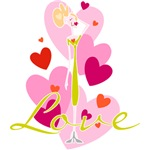 Valentine Whimsy Love t-shirts and Gifts