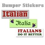 Italian Bumper Stickers