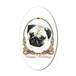 Pug Dog Holiday Stickers