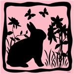 SPRING BUNNY SIL. 4 COLORS