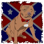 Red Nose Pit Bull Rebel Flag