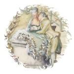 Portrait Of Rococo Couple In Love