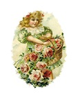 Portrait Of Victorian Flower Girl