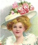 Edwardian Lady With Rose Hat