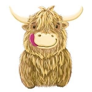 Happy Scottish Highland Cow