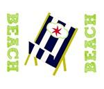 Fav Beach Chairs - Navy Stripes