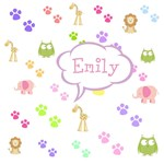 Personalize it! Zoo Animals Pink